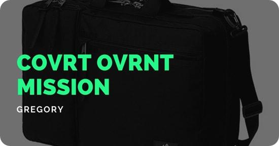 大容量なビジネスバッグならカバートオーバーナイトミッション/グレゴリー