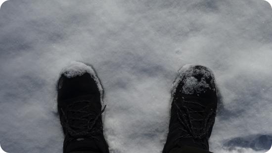雪道で安全な靴