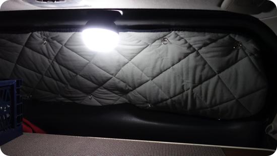 車中泊のライト
