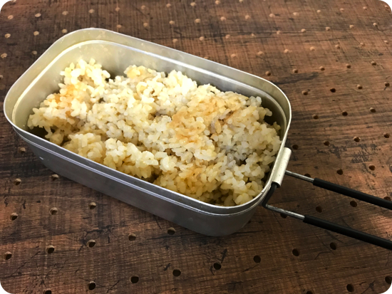 メスティンで玄米を炊く