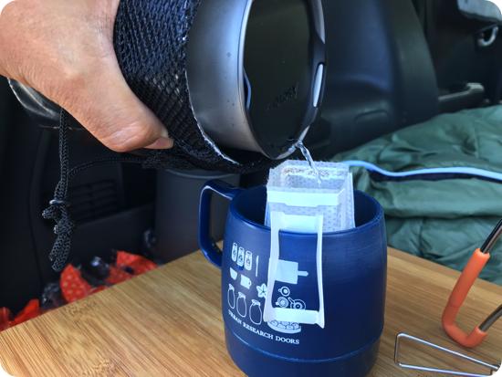サーモスタッククッカーコンボでコーヒー