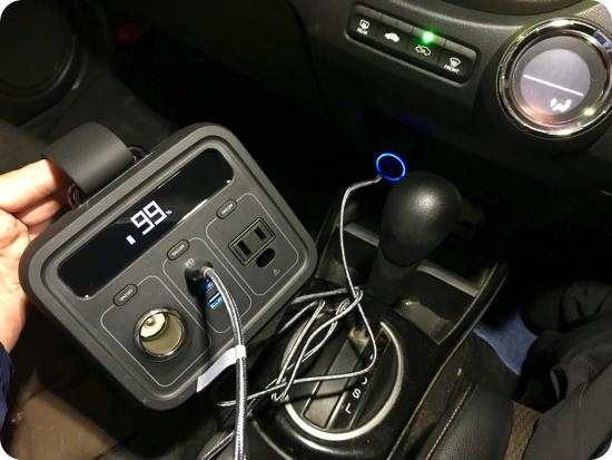 powerhous200のUSBPDによる充電