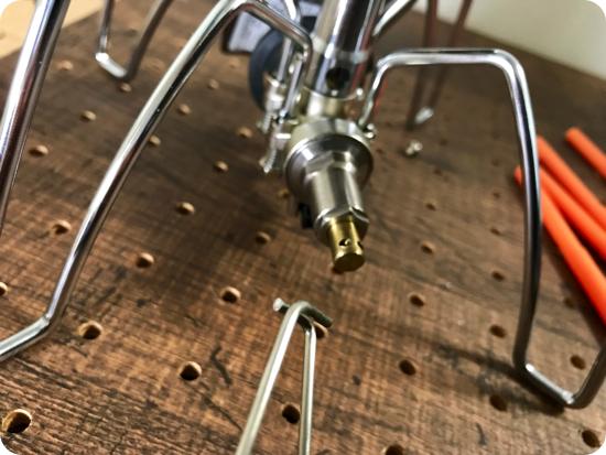 レギュレーターストーブST-310を使いやすくアシストする2点セット(点火アシストレバー・アシストグリップ)。