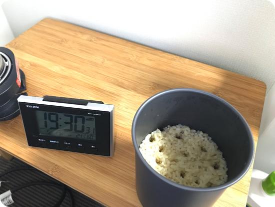 トラベルマルチクッカーとサーモスタッククッカーコンボでご飯を炊く
