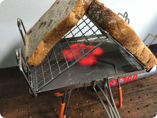 【日本製】fan マルチロースター(ユニフレーム)で美味しいパンを食べる
